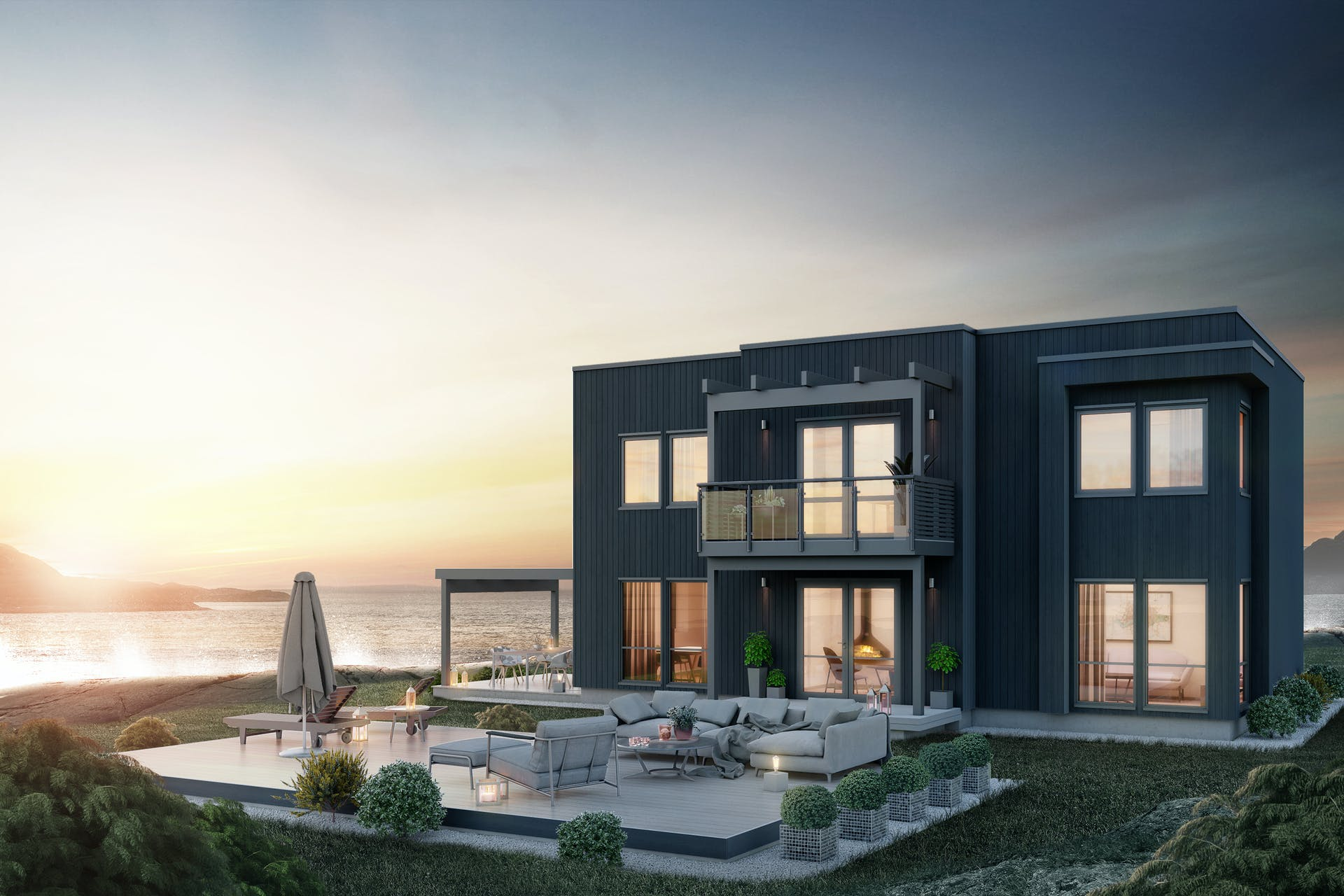 Forskjellige Moderne ferdighus fra vår nye huskatalog. Skalahus | Skalahus IO-99