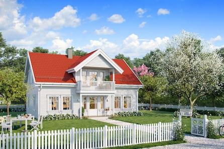 Fåmyrsrøet// Et klassisk hus med romslig hall og egen loftstue med utgang til balkong. Hovedplanet har godt med bodareal