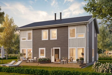 Fåmyrsrøet, Nannestad // Ny tomannsbolig med 3 soverom, 2 bad, høy standard. TEK17