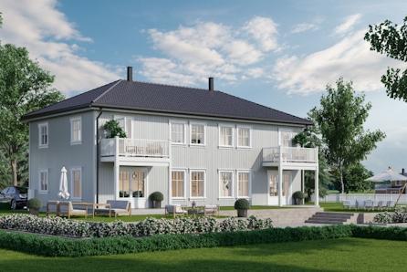 Fåmyrsrøet, Nannestad // 1 solgt!! Ny tomannsbolig med 3 soverom i flott område. Tilpass boligen etter dine ønsker