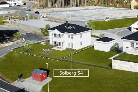 Nøkkelferdig enebolig på solrik tomt i populære Solberg boligfelt