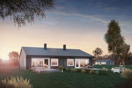 Aurskog-Høland, Fosser // Ny tomannsbolig med alt på en flate - romslig tomt - god standard