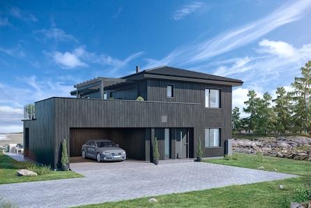 Fjellsrudåsen, Gan // Prosjektert enebolig m/ carport - utsikt - 4 sov  - royalpanel