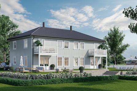 Gjerdrum, Kløftavegen //  Herskapelig tomannsbolig i landlig idyll - 3 soverom - bygging igangsatt!