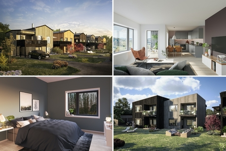Nannestad, Maura // 14 leiligheter og 6 fleksible eneboliger skal bygges på familievennlige Holaker. 1 solgt!