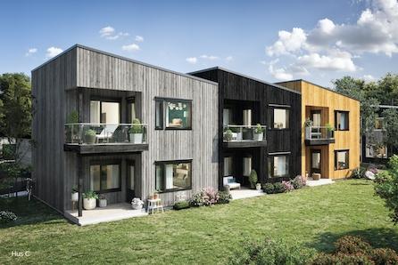 Maura, Nannestad // Bygging igangsatt - 3 solgt! - flotte 3-roms leil. med garasje, høy standard - vannbåren gulvvarme