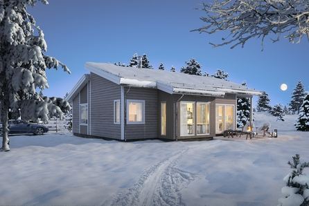 Solrik tomt i flott natur på Ormåsen. Nøkkelferdig, moderne bolig. Boligen kan selvsagt tilpasses deres behov.