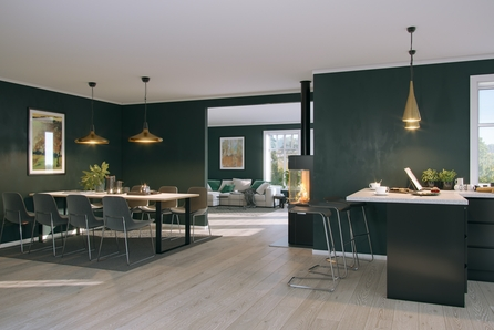 Velkommen til tomtevisning 25.10.2021kl 16-17. Enebolig på ett plan med 4 soverom, romslig kjøkken og stue.