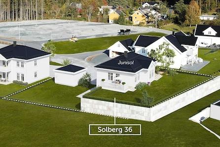 Nøkkelferdig enebolig på solrik utsiktstomt på Solberg
