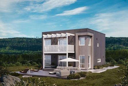 Moderne boliger på Prestegårdsskogen